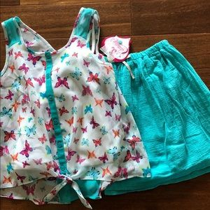NWT Candies top and O'Shea gosh skirt matching set